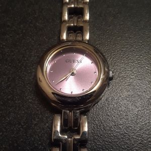 Vtg Guess silver watch